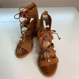 Dolce Vita Block Heel Gladiator Tie Sandals